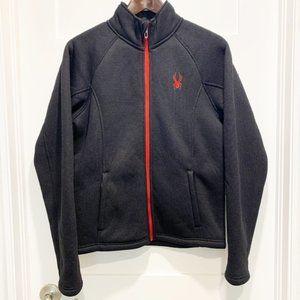 Spyder Stellar Black Full-Zip Fleece-lined Jacket